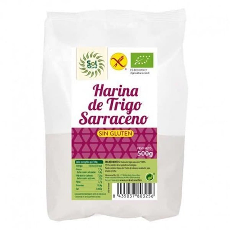 Harina de trigo sarraceno sin gluten BIO Solnatural 500g