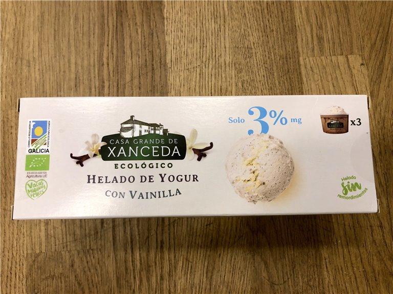 Helado de yogur con vainilla, 1 ud