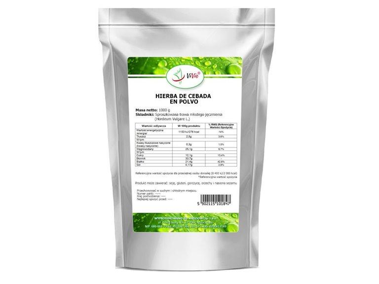 Hierba de cebada en polvo 1000g