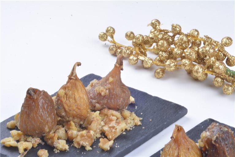 Higo Relleno de Salmón y Queso con Crocanti de Nuez (12 unidades) (ref. 300103)