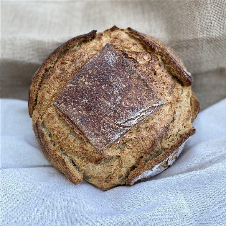 Mixed wheat + rye dough