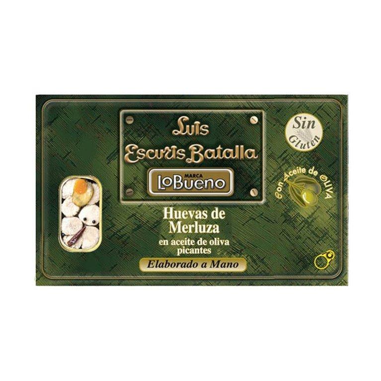 Huevas de merluza Luis Escuris Batalla en aceite de oliva picantes 120 g, 1 ud