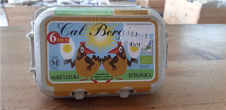 Huevos de agricultura ecológica, 400 gr