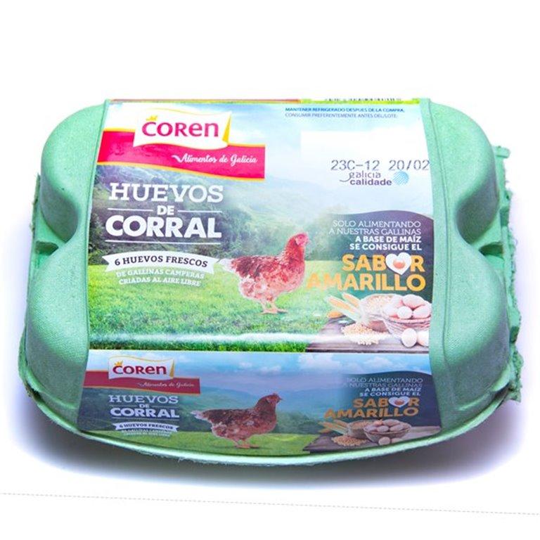 Huevos de corral, 0,50 docena