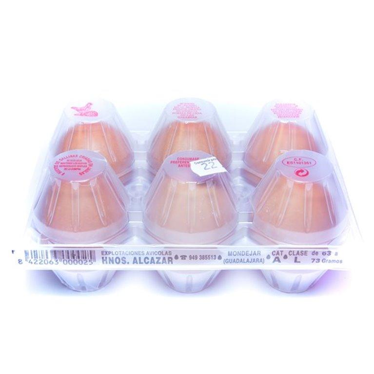 Huevos grandes  L, 0,50 docena