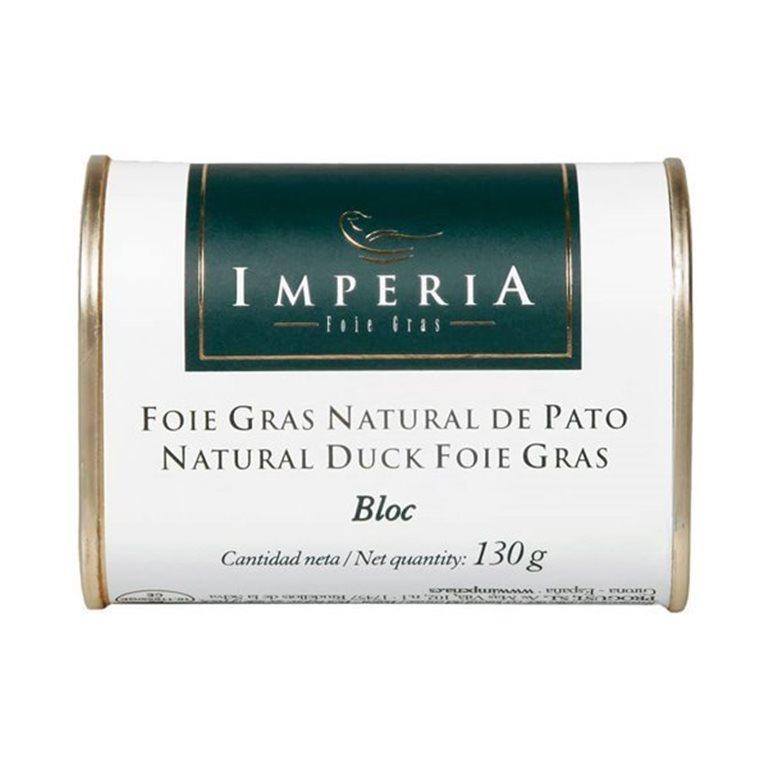 Imperia Bloc de Foie Gras Natural de Pato 130g