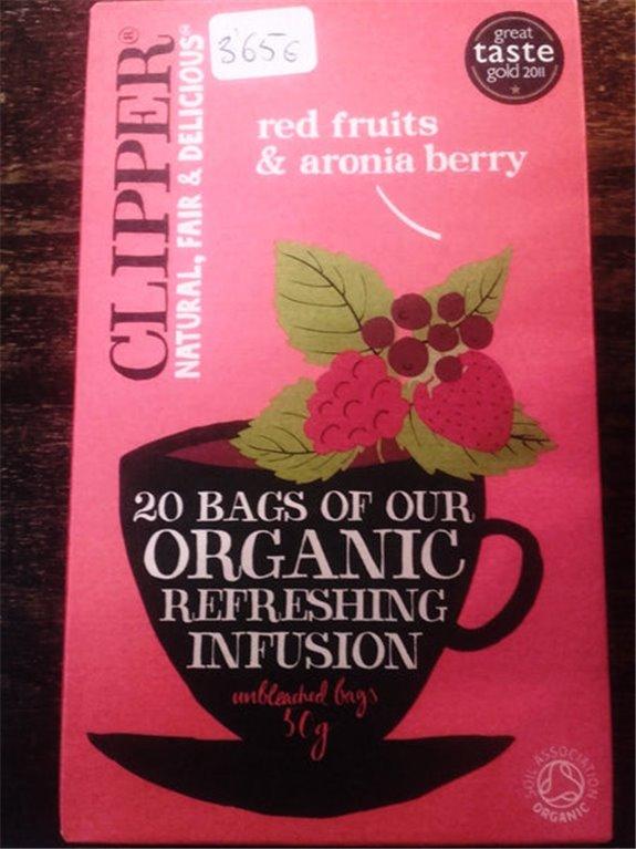 Infusión Clipper orgánica de frutos rojos y aronia 20 bolsas, 1 ud