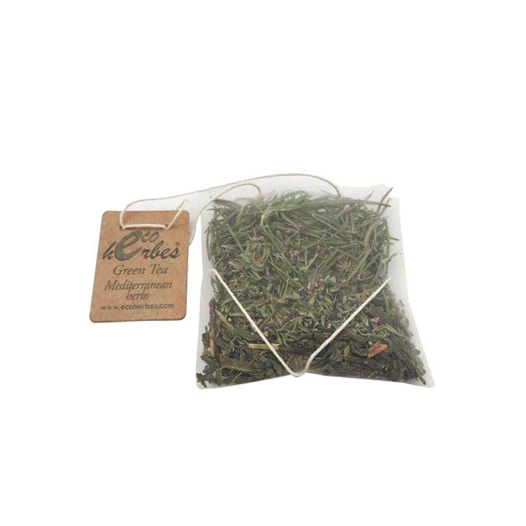 Infusión ECO de Green Tea Mediterranean Herbs seco Ecoherbes (10 Uds)