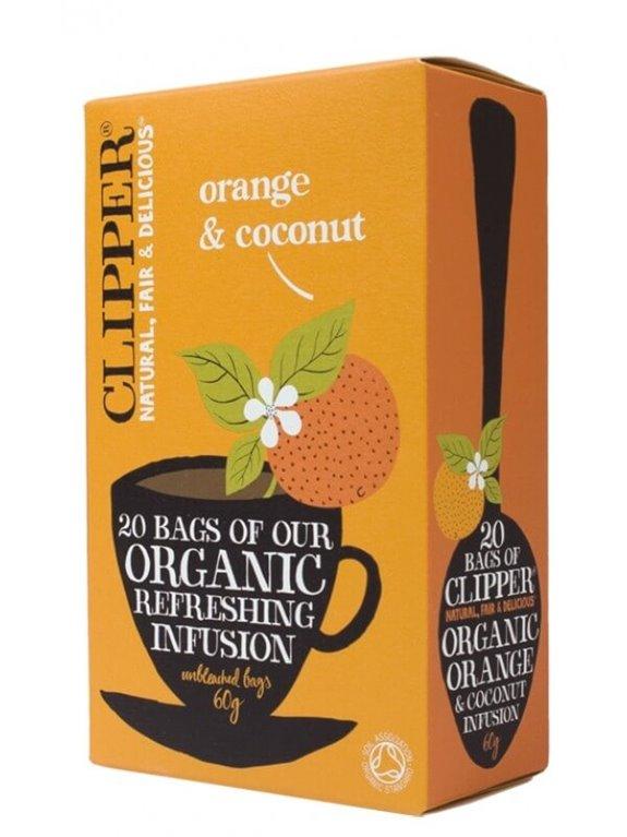 Infusión naranja y coco, 50 gr