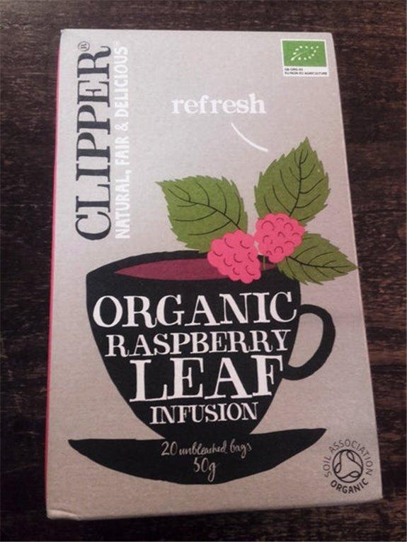 Infusión orgánica de hojas de frambuesa Clipper 20 bolsas, 1 ud