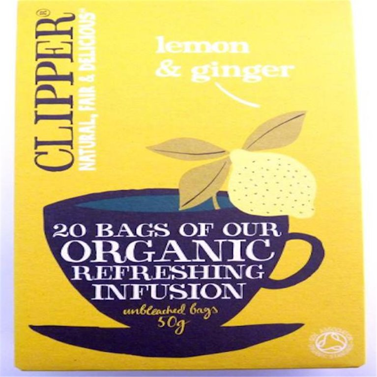 Infusión orgánica limón y jengibre Clipper, 1 ud