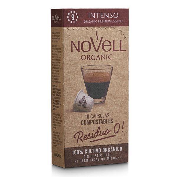 INTENSO - Cápsulas de café orgánico, compostables y compatibles Nespresso® (10 cápsulas)