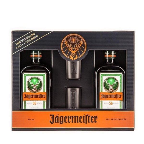 JAGERMEISTER PACK 2BT 0,50 L. 35º + 2 VASOS PACK
