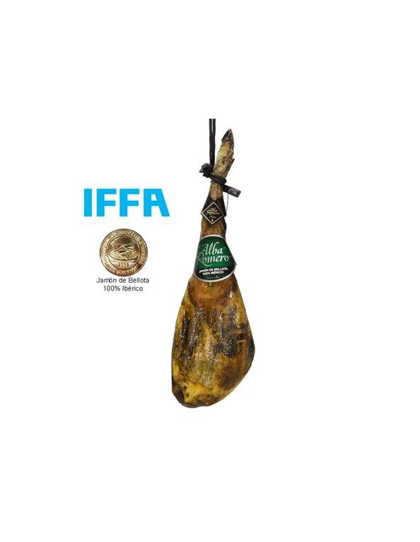Jamón 100% Raza Ibérico de Bellota Alba Romero, producto elaborado en el municipio de Jabugo 7-7,5 kg Aprox.