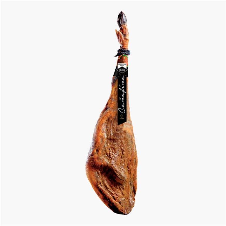 Jamón de bellota 100% ibérico D.O Dehesa de Extremadura Cañafina (Brida negra) 8-8.5 Kg