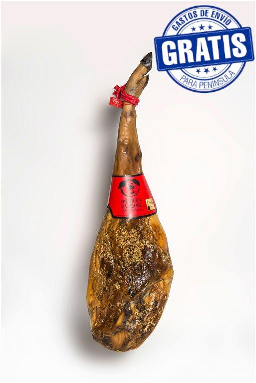 Acorn-fed 50% Iberian ham. Iberico Vázquez.