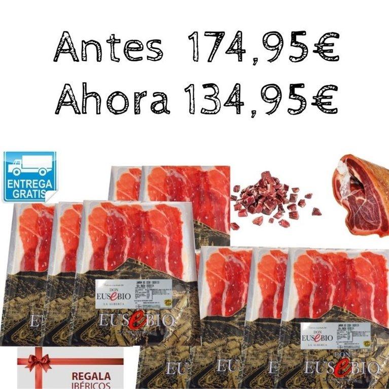 Jamón de Cebo Ibérico 50% raza ibérica de Salamanca Don Eusebio Loncheado