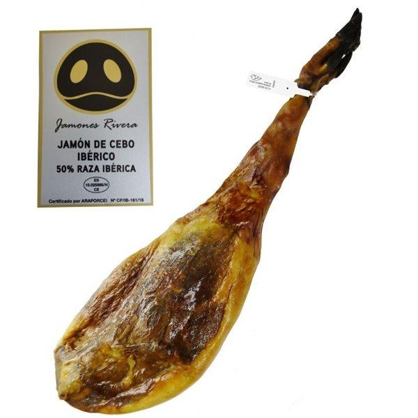 Jamón De Cebo Ibérico 50% Raza ibérica Selección Rivera