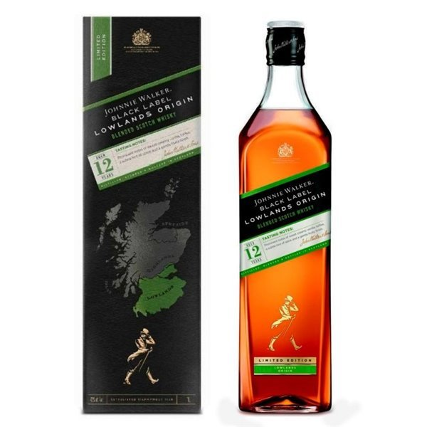 JOHNNIE WALKER BLACK LOWLANDS ORIGIN 1L. + ESTUCHE