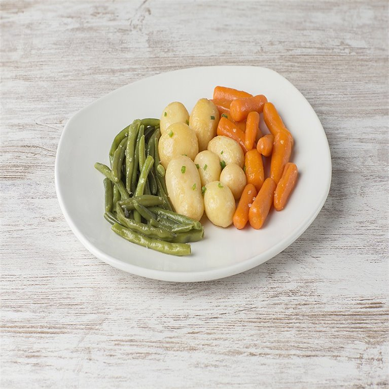Judía verde con patatas y zanahoria