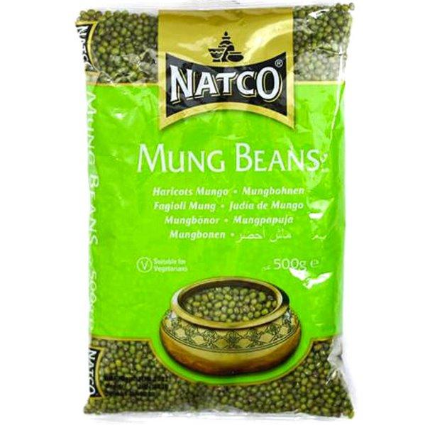 Judias Mungo Verdes (Vigna radiata)   Whole Green Mung - Natco 500g