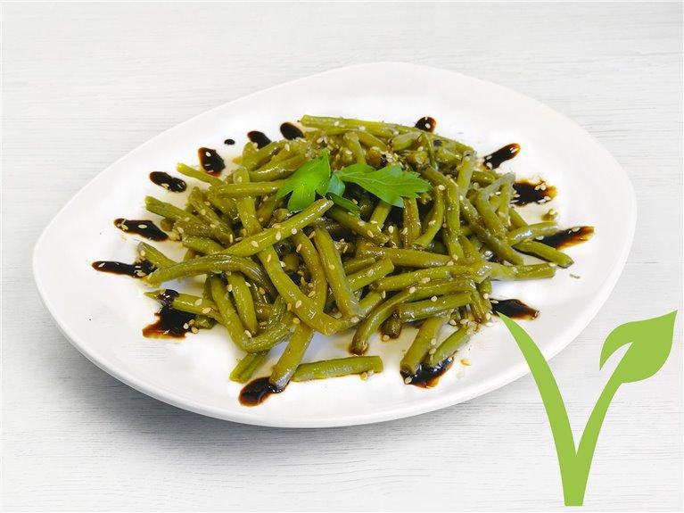 Judías verdes con sésamo y soja
