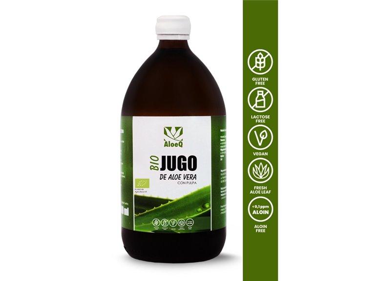 Organic Aloe Vera Juice (with pulp) unpasteurized 1000ml
