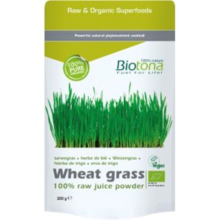 Jugo de hierba de trigo en polvo, 200 gr