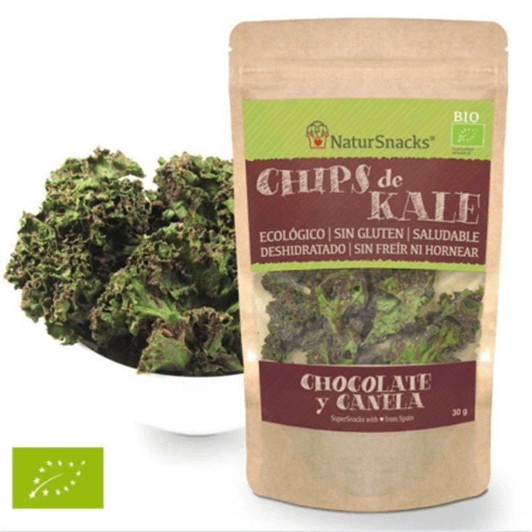 Kale deshidratada con chocolate-canela, 30 gr