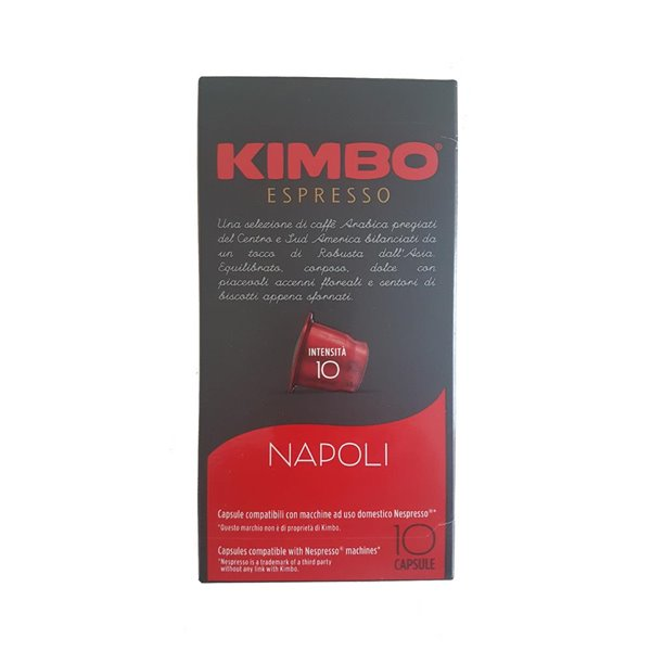Kimbo Cafe en cápsulas intenso Napoli