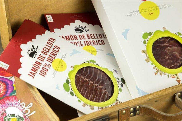Kit de Jamón de bellota 100% ibérico  (5 sobres de 100 g)