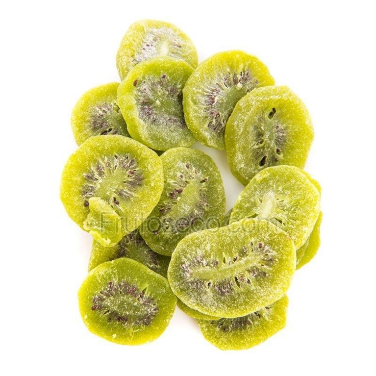 Dehydrated kiwi in slices, tray 250 grams.