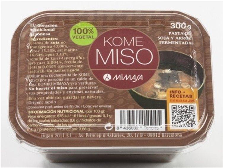 Kome Miso de Arroz Blanco 300g