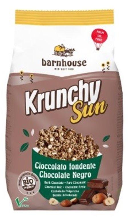 Krunchy con Chocolate Negro y Avellanas Bio 375g