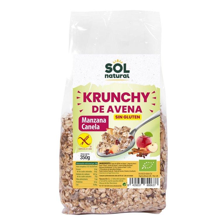 Krunchy de Avena con Manzana y Canela Sin Gluten Bio 350g