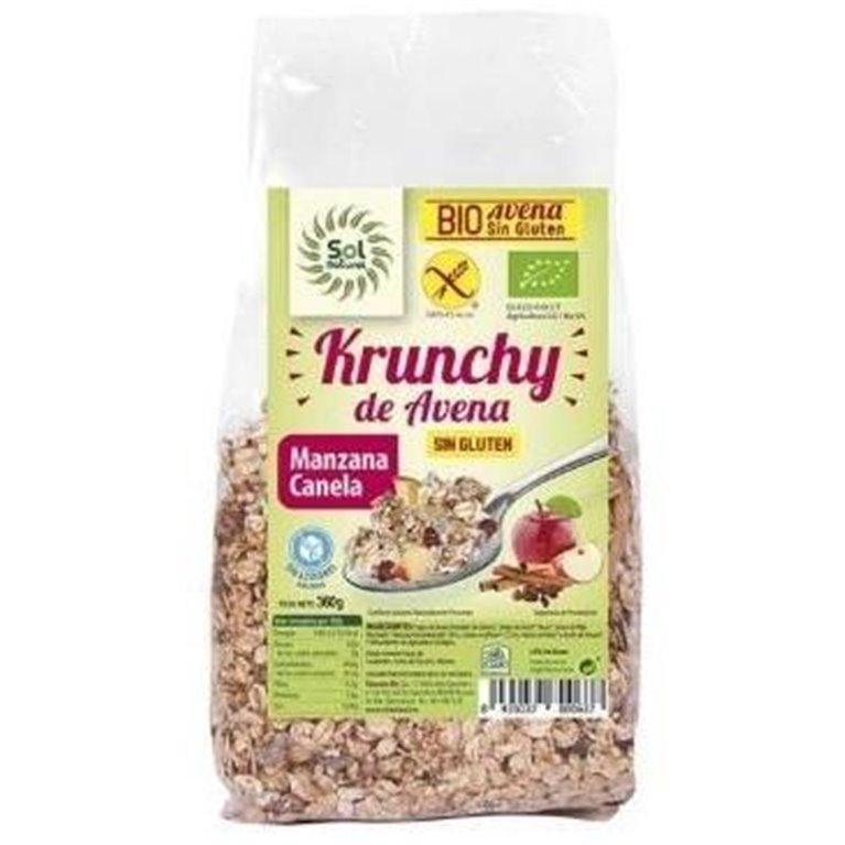 Krunchy de Avena Manzana-Canela Sin Gluten Bio 350g, 1 ud