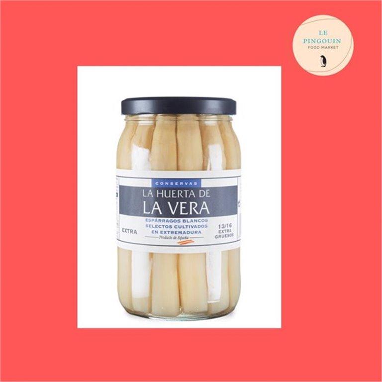 La Huerta De la Vera Esparrago blanco 13-16 piezas 1.150gr, 1,15 kg