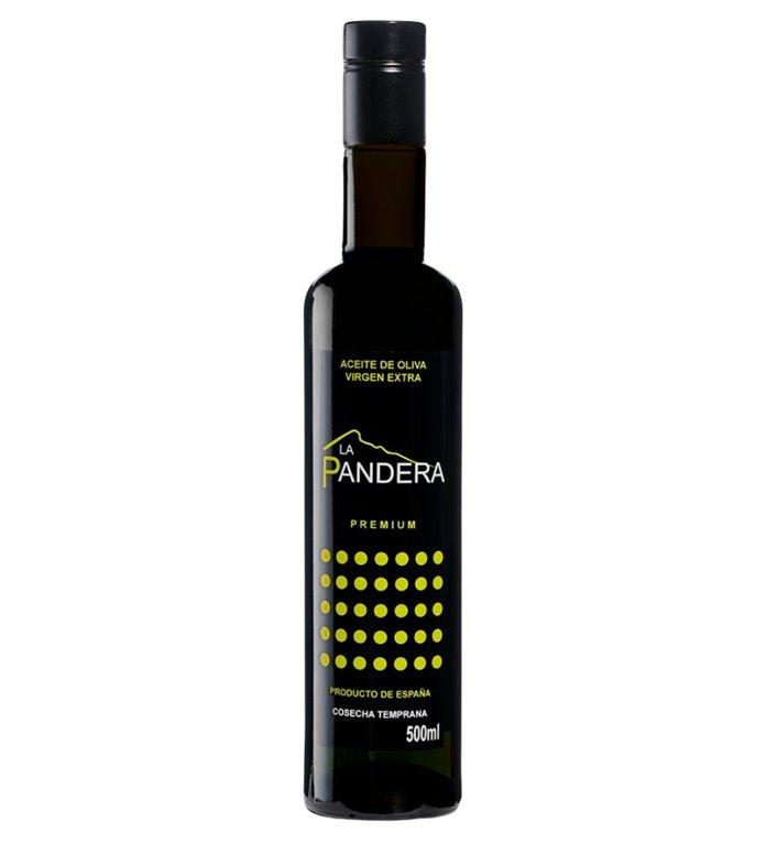 La Pandera PREMIUM. Aceite de Oliva Virgen Extra. 6 x 500 ml.