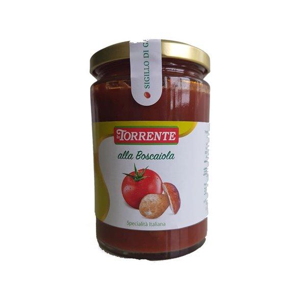 La Torrente salsa con setas a la Boscaiola