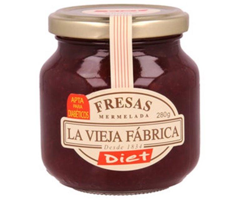 La Vieja Fábrica - Mermelada de fresa diet (apta para diabéticos, sin gluten), 1 ud