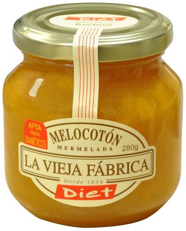 La Vieja Fábrica - Mermelada de melocotón diet (apta para diabéticos, sin gluten), 1 ud