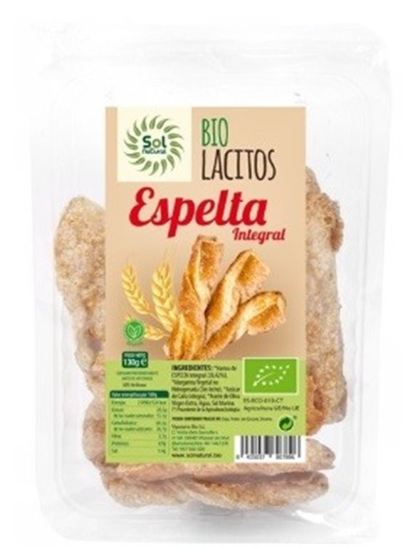 Lacitos de Espelta Caramelizados Bio 120g, 1 ud