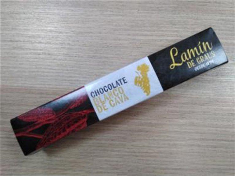 Lamin de chocolate blanco y cava Puyet, 1 ud