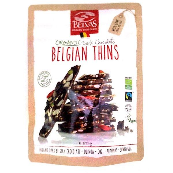 Láminas de Chocolate con Quinoa, Goji y Cacao Sin Gluten Bio Fairtrade 120g