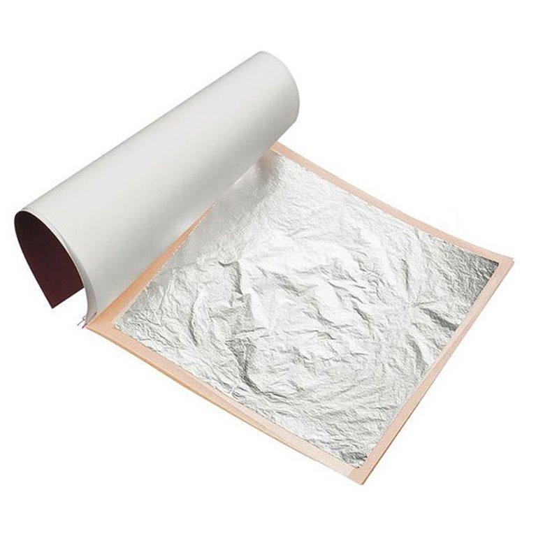 Láminas de Plata, 25 hojas de 95x95mm. Noris. 6un., 1 ud