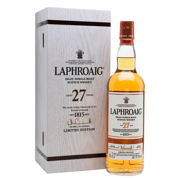 LAPHROAIG 27 YO SINGLE MALT 0,70 L. + ESTUCHE
