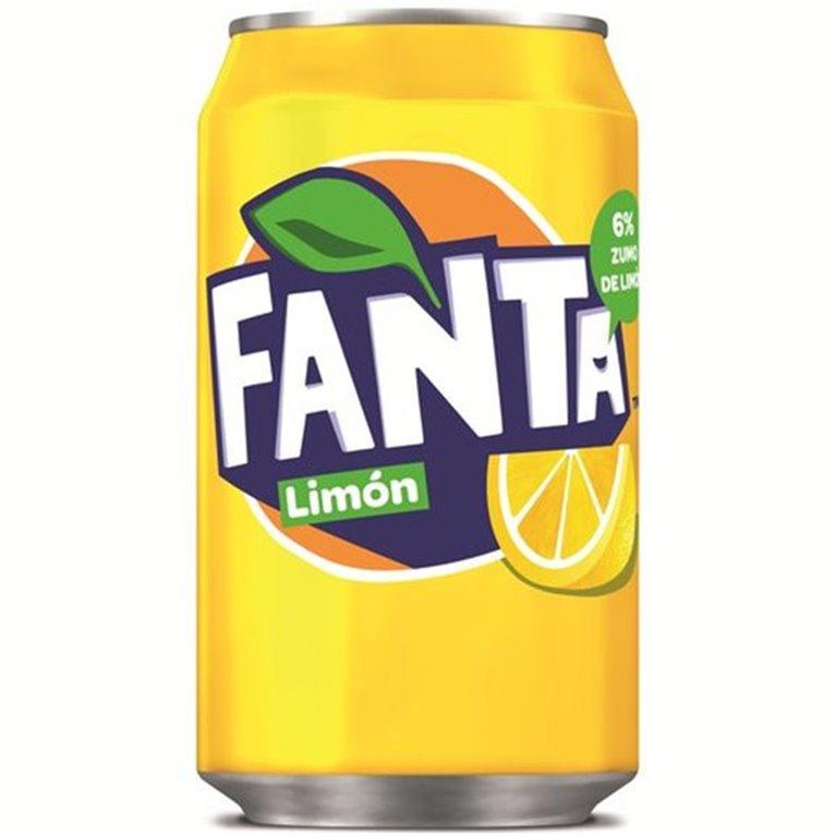 Lata Fanta de limón