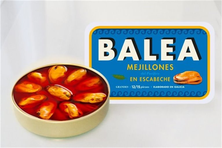 Lata mejillones en escabeche Balea 12/15 piezas