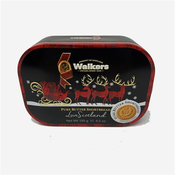 Lata trineo galletas mantequilla Walkers