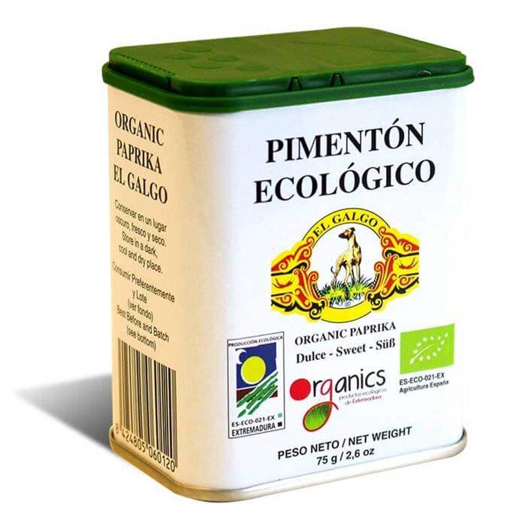 Latas de pimentón ecológico. (75g).